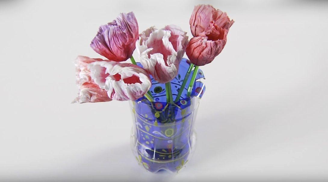 Idee floreali, con il riciclo creativo