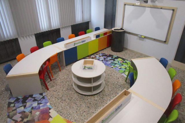 L' Aula Creativa vinta dalla Scuola Primaria Giovanni Pascoli di Grezzana con il Premio GIOTTO la matita delle Idee